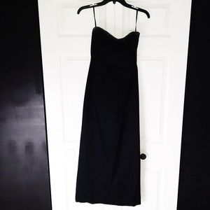 ♡ EXPRESS LONG STRAPLESS BEADED GOWN ♡
